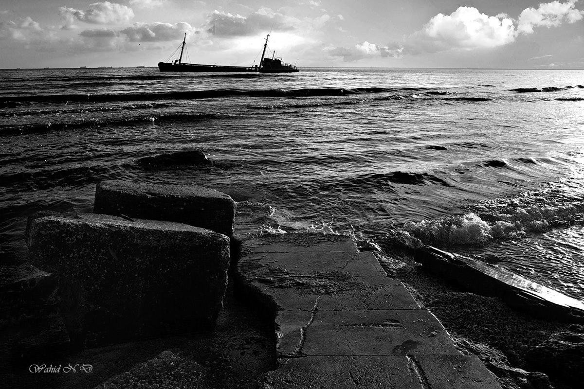 """фото """"the Wreck"""" метки: пейзаж, путешествия, Африка, вода, лодка"""