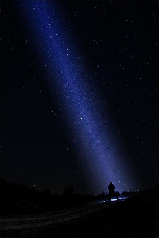 "фото ""Ray of Light"" метки: пейзаж, stars, зима, ночь"