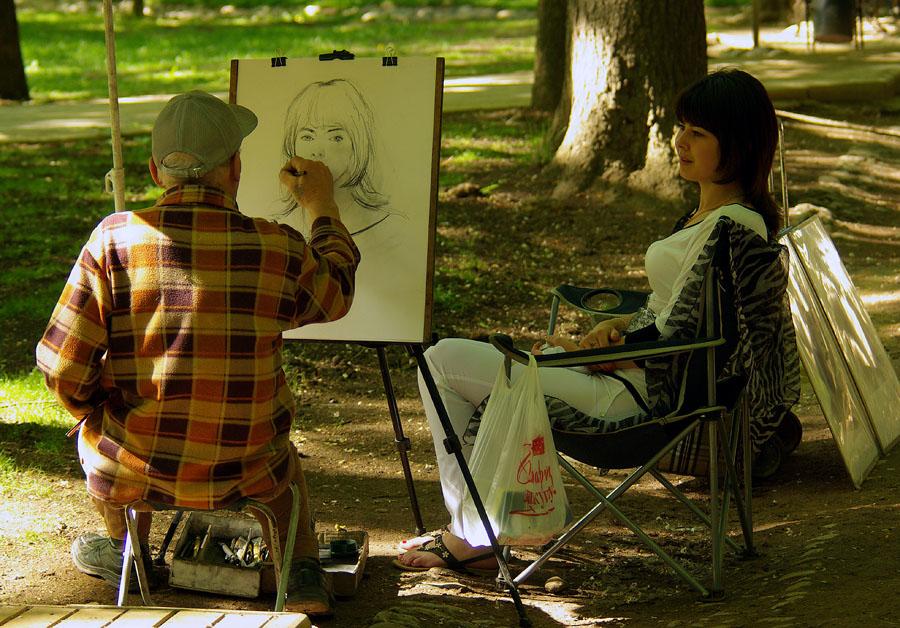 """фото """"Уличный художник"""" метки: жанр, художник модель"""