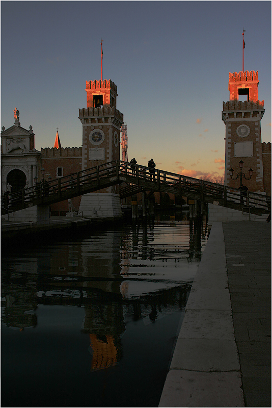"photo ""Two towers. Venice."" tags: architecture, landscape, travel,"