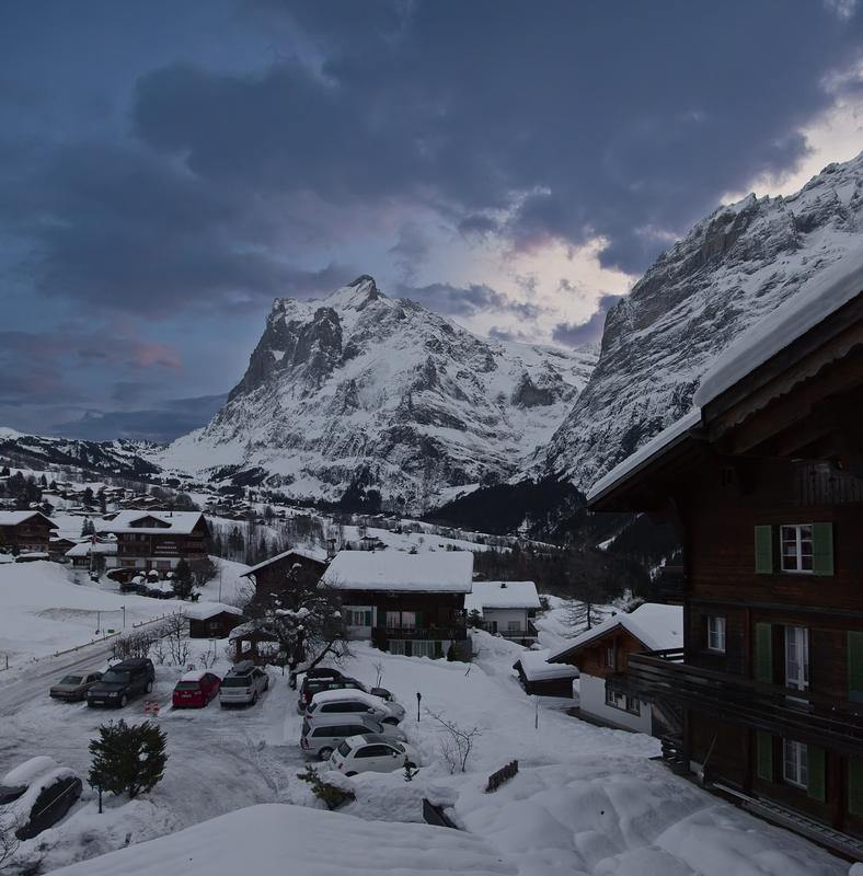 "фото ""Утро"" метки: пейзаж, путешествия, Европа, горы, зима, небо, снег"