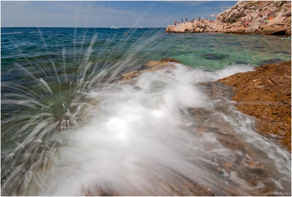 "фото ""Морской салют"" метки: пейзаж, Ровинь, лето, море, прибой"