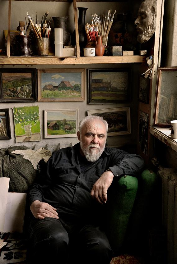 """фото """"В.Комаров, художник. 2009г."""" метки: портрет,"""