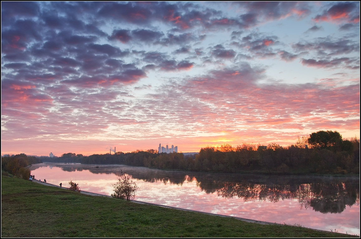 """фото """"осенний рассвет"""" метки: пейзаж, город,"""