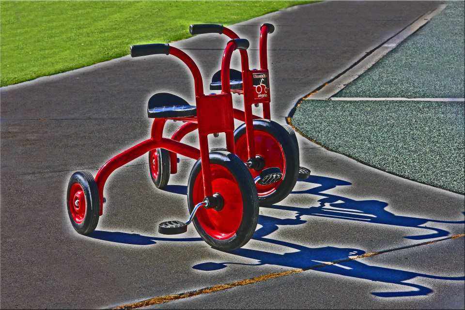 "photo ""Trikes In Duo"" tags: genre, still life,"