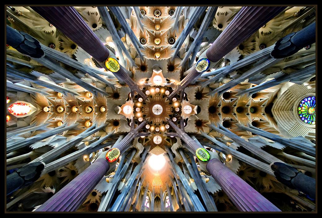 "photo ""Sagrada Família Church"" tags: architecture, interior,"
