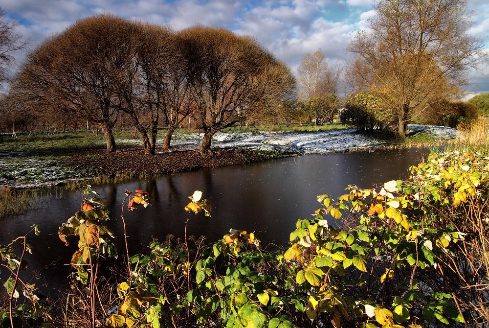 """фото """"Обжигающее солнце ноября"""" метки: пейзаж, красиво, лед, осень, солнце"""