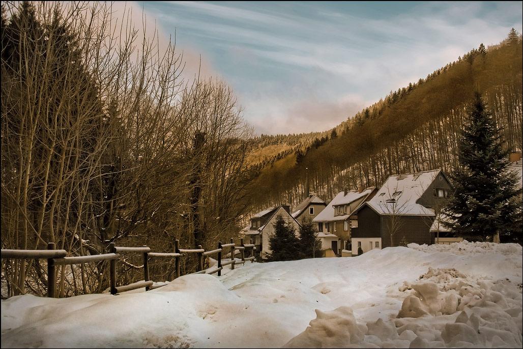 """фото """"Зима в Гарце"""" метки: пейзаж, Гарц, зима, лес, снег, солнце"""