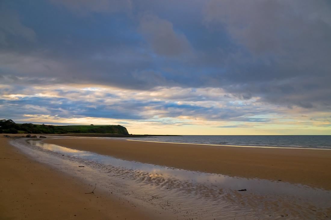 """фото """"Отлив"""" метки: пейзаж, Sand, beach, sea, вода, закат, небо, облака"""