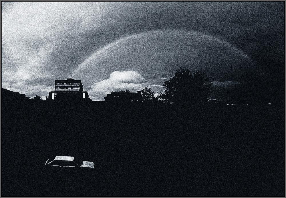 "фото ""гроза ушла"" метки: пейзаж, техника, черно-белые, радуга"