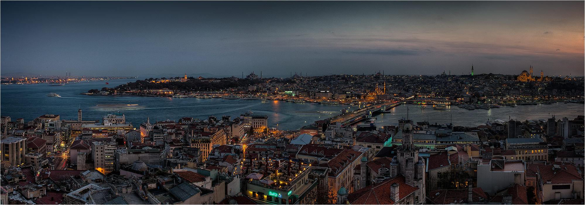"photo ""Istanbul , panorama with use of Galata tower"" tags: city, travel, architecture,"