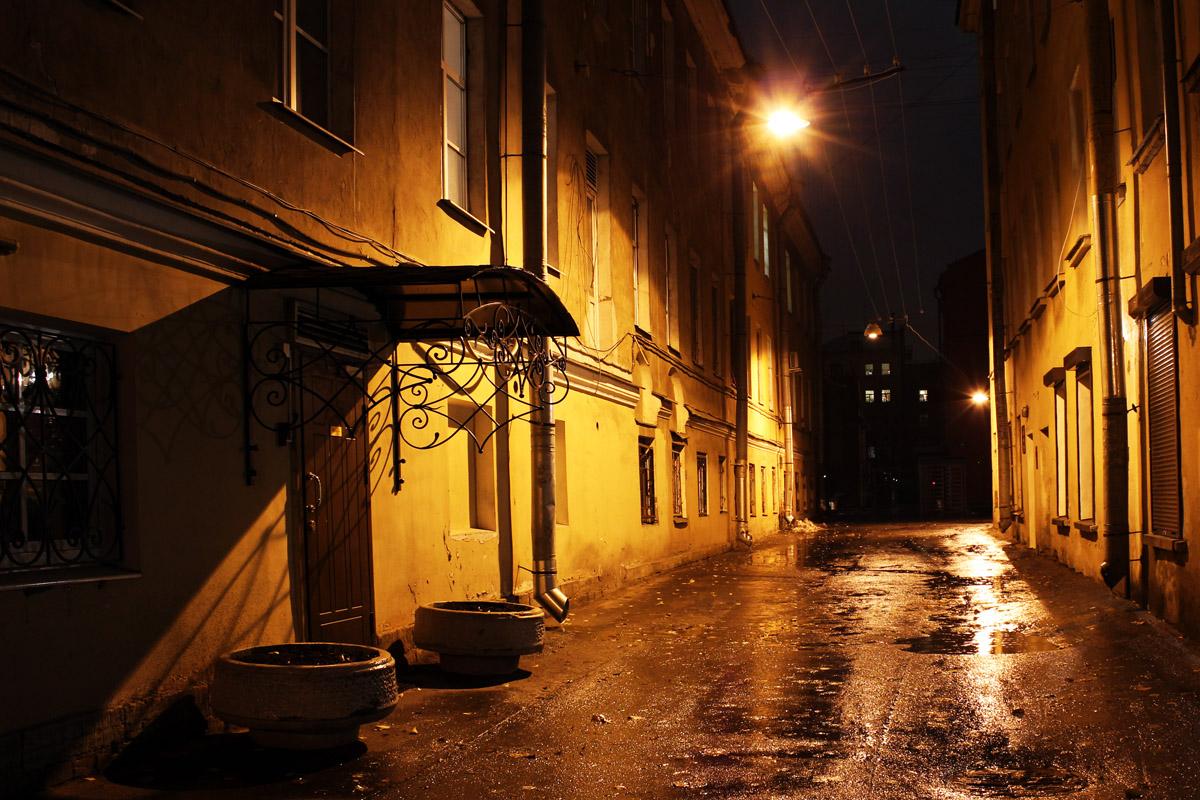 """фото """"Улочка"""" метки: пейзаж, архитектура, Saint-Petersburg, night, Санкт-Петербург, ночь"""