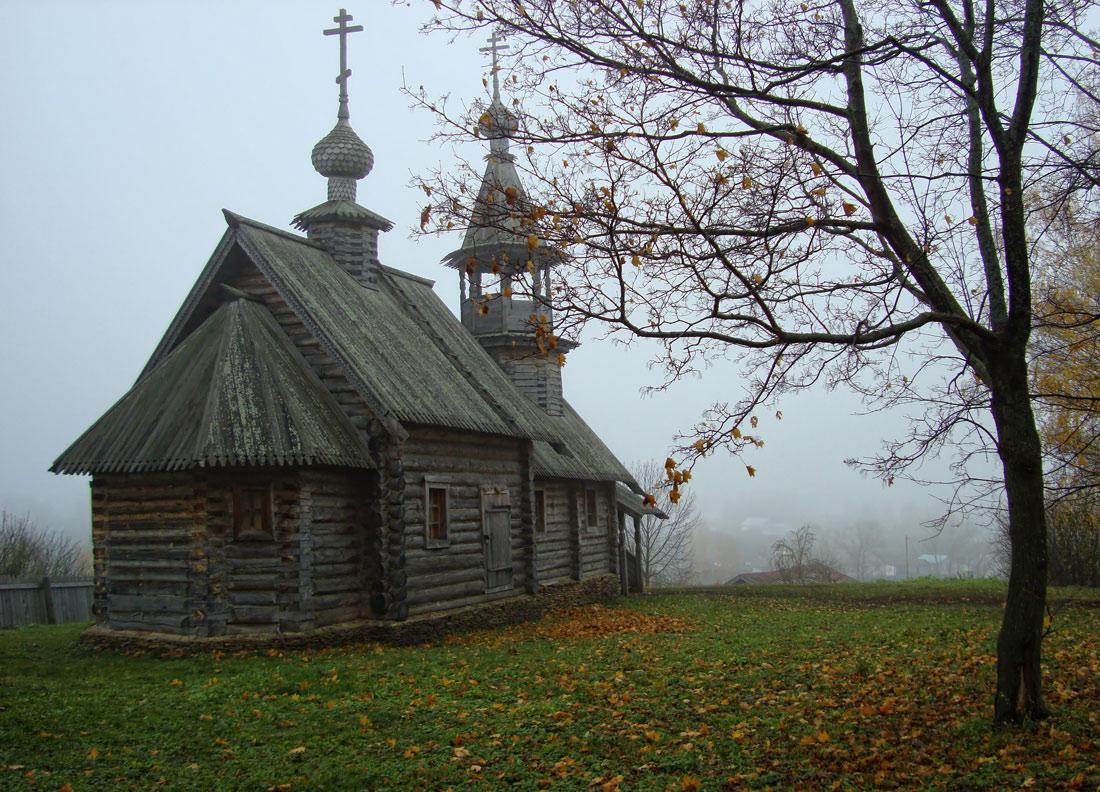 """фото """"..уходящие в туман.."""" метки: пейзаж, архитектура, Болдино, октябрь, осень"""