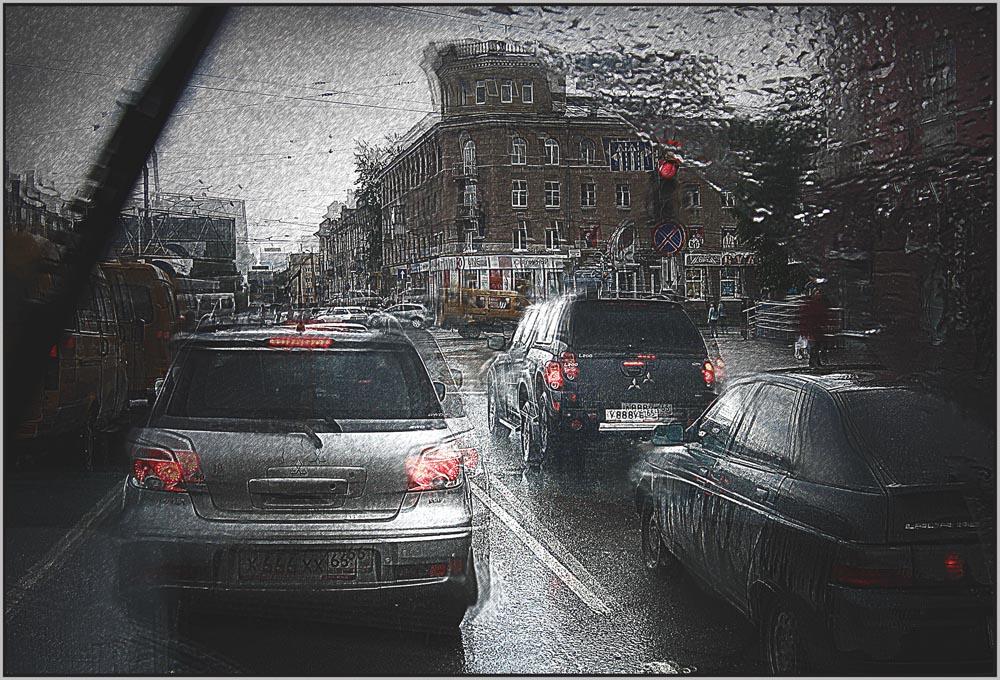 """фото """"перекресток"""" метки: техника, digital art, город, авто"""
