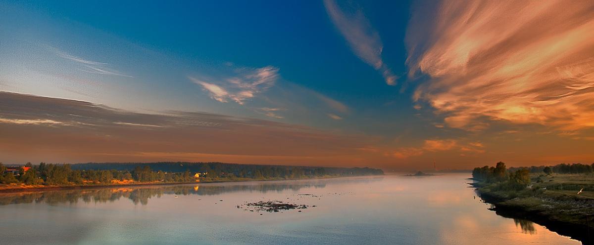 """фото """"Встречаю рассвет"""" метки: пейзаж, вода, краски, небо, рассвет"""
