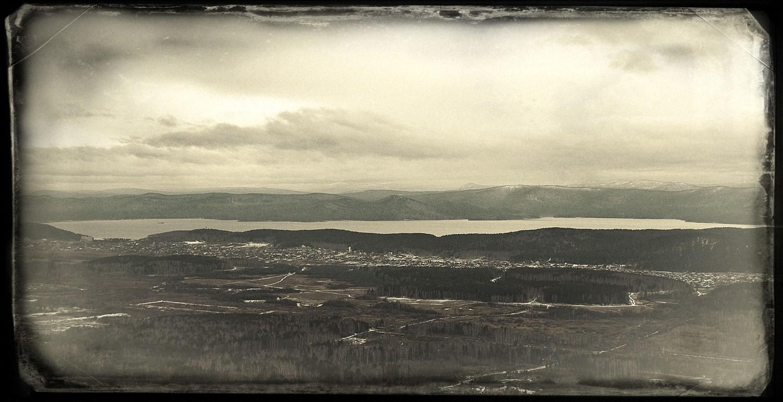 "фото ""View On The Lake Turgoyak"" метки: пейзаж, ретро, урал тургояк озеро горы ural m"