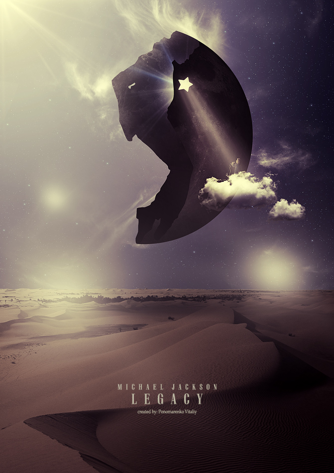 "фото ""Michael Jackson: Legacy"" метки: фотомонтаж, digital art, музыка Michael Jackson - Earth"