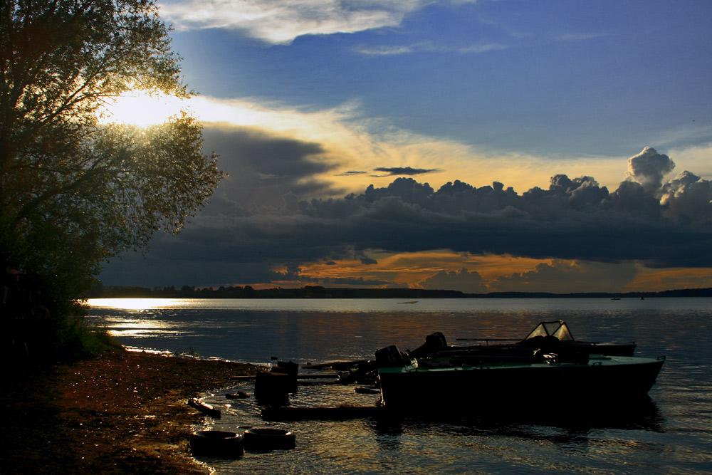 "фото ""****"" метки: пейзаж, путешествия, жанр, Калязин, вода, закат, лето"