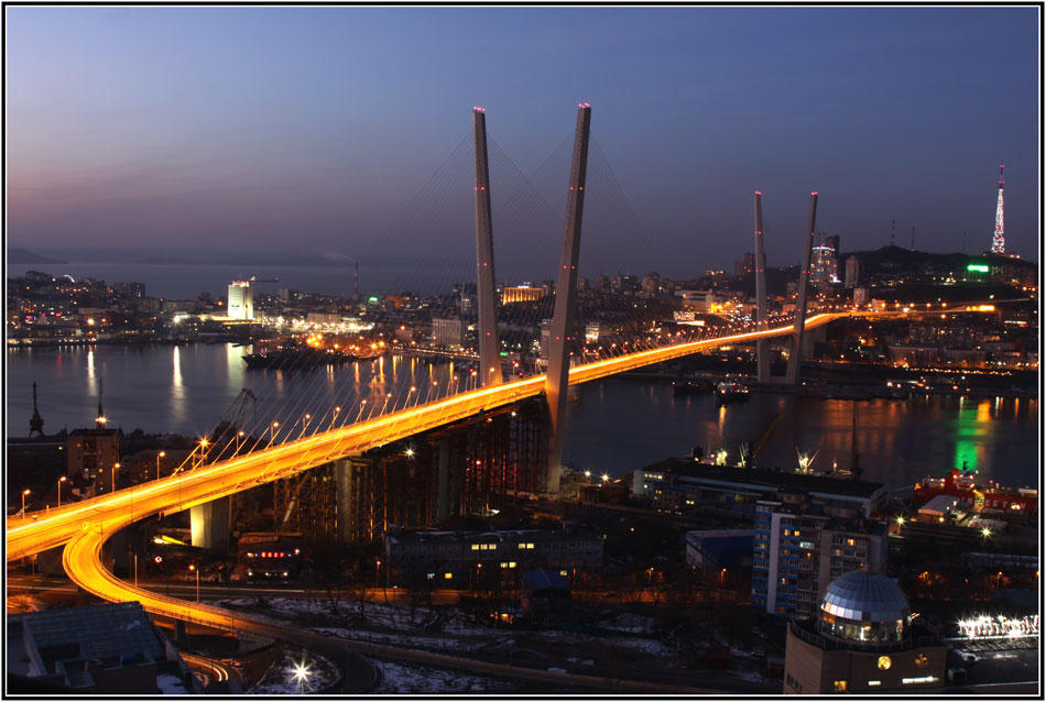 "photo ""***"" tags: , bridge, sea, ship, winter, краски"