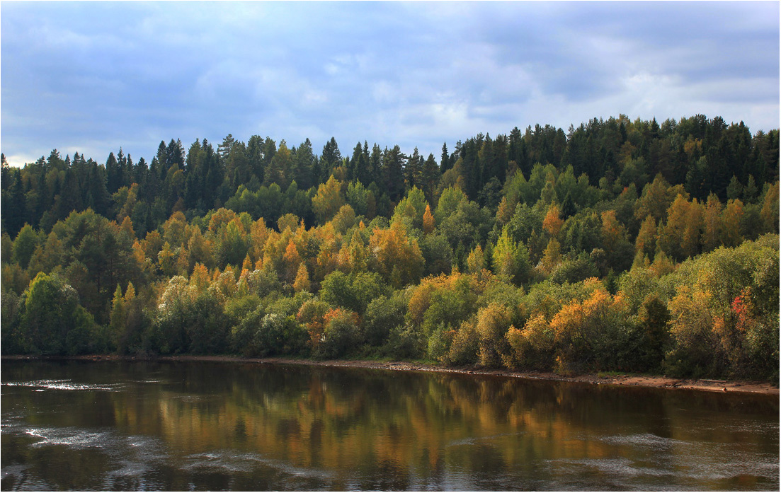"photo ""Svir River. September."" tags: landscape, travel, autumn, river, september, water, свирь"
