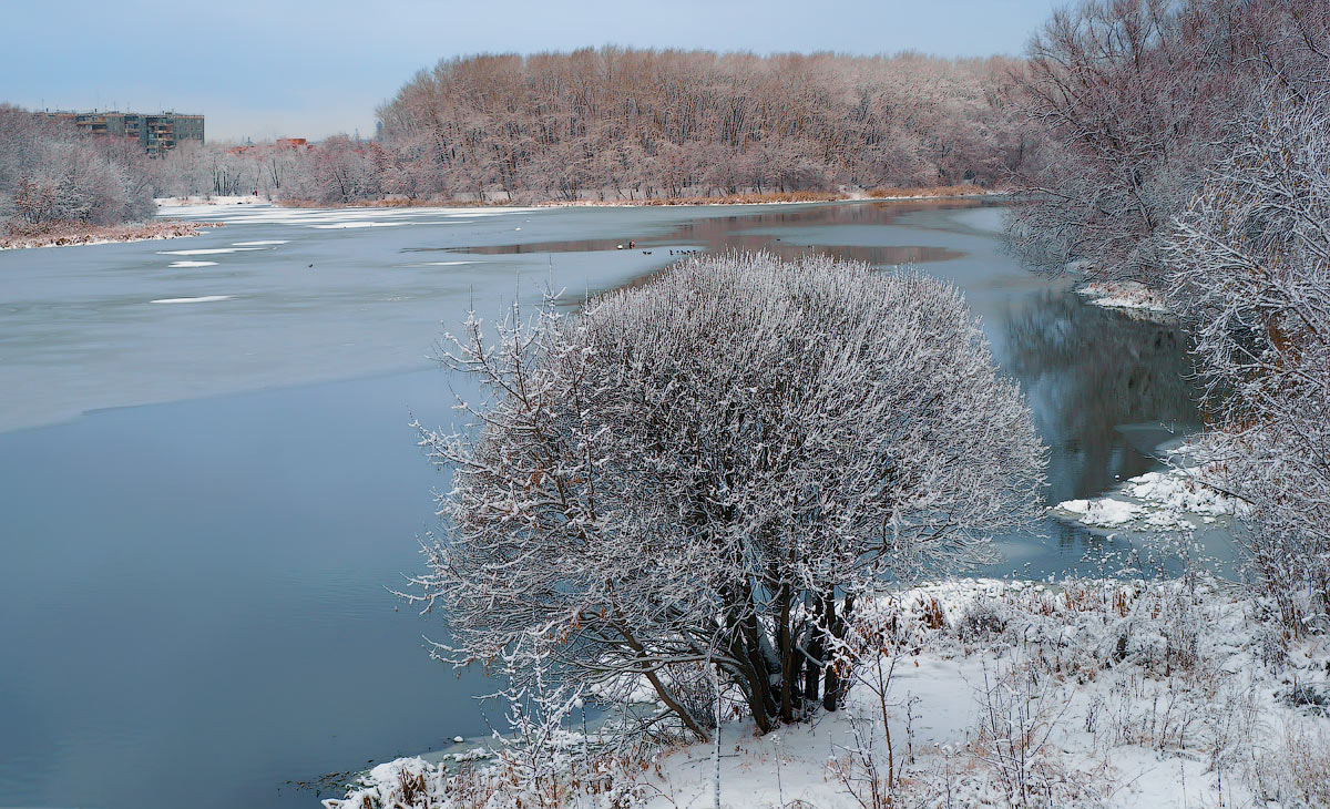 "photo ""Winter's here!"" tags: landscape, river, snow, winter, лед"