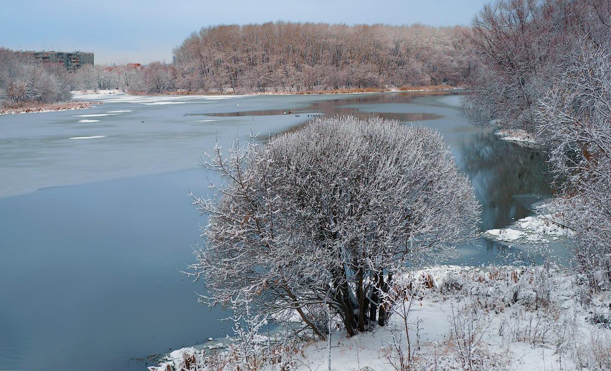 "фото ""Зима пришла!"" метки: пейзаж, зима, лед, река, снег"