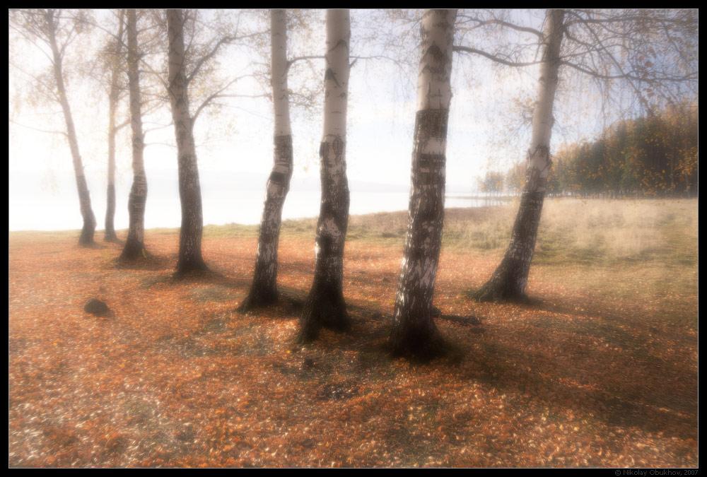 """фото """"Осеннее утро / 0183_0005"""" метки: пейзаж, озеро, осень"""