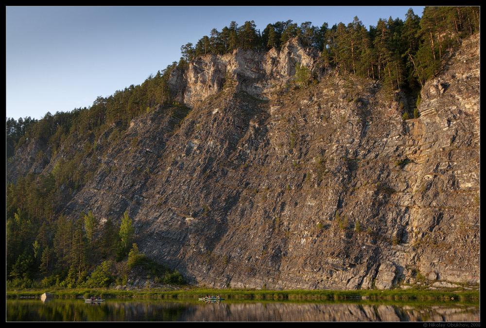 """фото """"По тихой воде / 0189_0040"""" метки: пейзаж, горы, лес, лето, река, скалы"""
