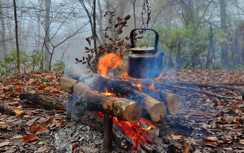 """фото """"Дым костра создает уют, искры гаснут в полете сами..."""" метки: пейзаж,"""