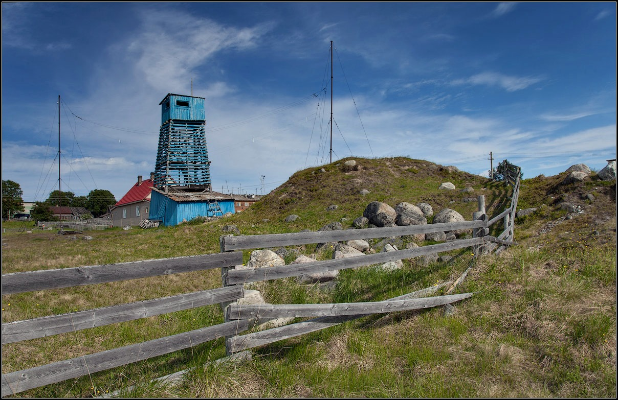 "photo ""on the Solovki. Meteorological station"" tags: landscape, travel,"