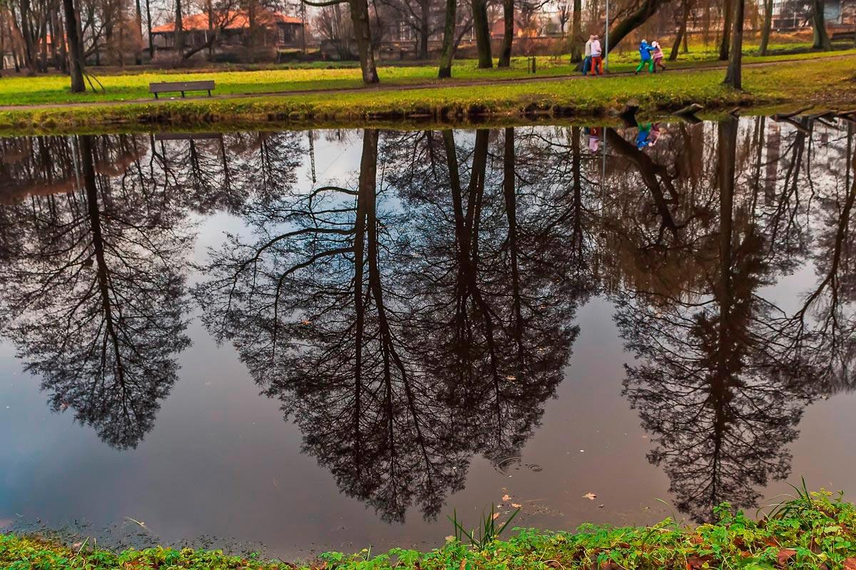 """фото """"Осенний парк..."""" метки: пейзаж, вода, осень, отражения"""