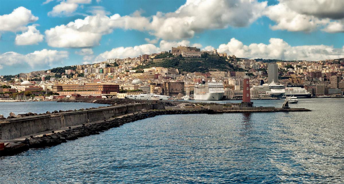 """фото """"Неаполь"""" метки: путешествия, Италия, Неаполь, залив, море"""