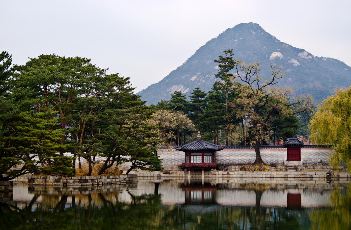 "фото ""Кёнбоккун"" метки: пейзаж, Азия, горы, осень"
