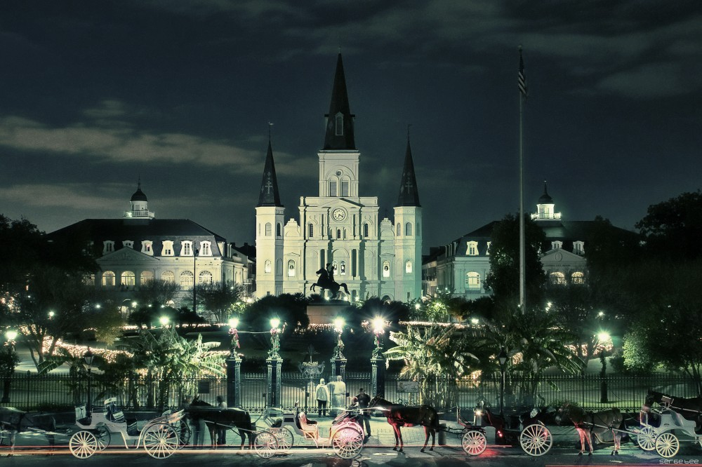 "photo ""Jackson Square"" tags: architecture, travel, city, new orleans french quarter lou"