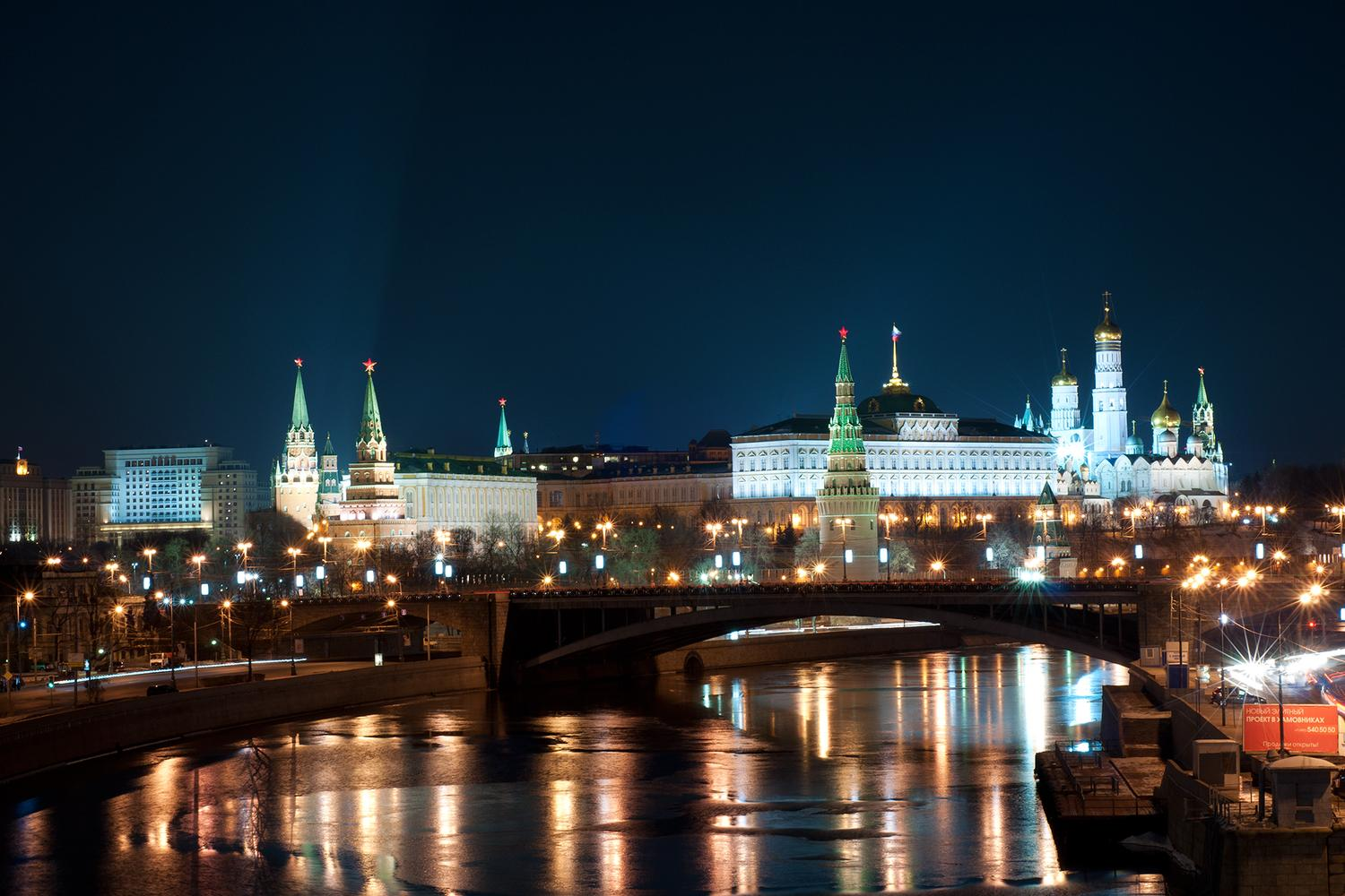 "photo ""moscow night"" tags: city, Moscow, city, night"