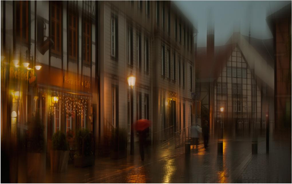 """фото """"Прохожий с красным зонтом.."""" метки: стрит-фото, германия, дождь"""