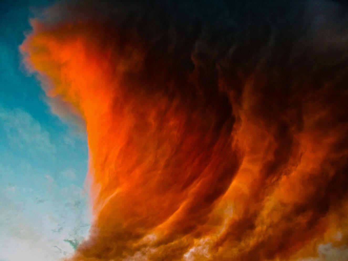 """фото """"Sunset reflected in a cloud"""" метки: абстракция, панорама, облака"""