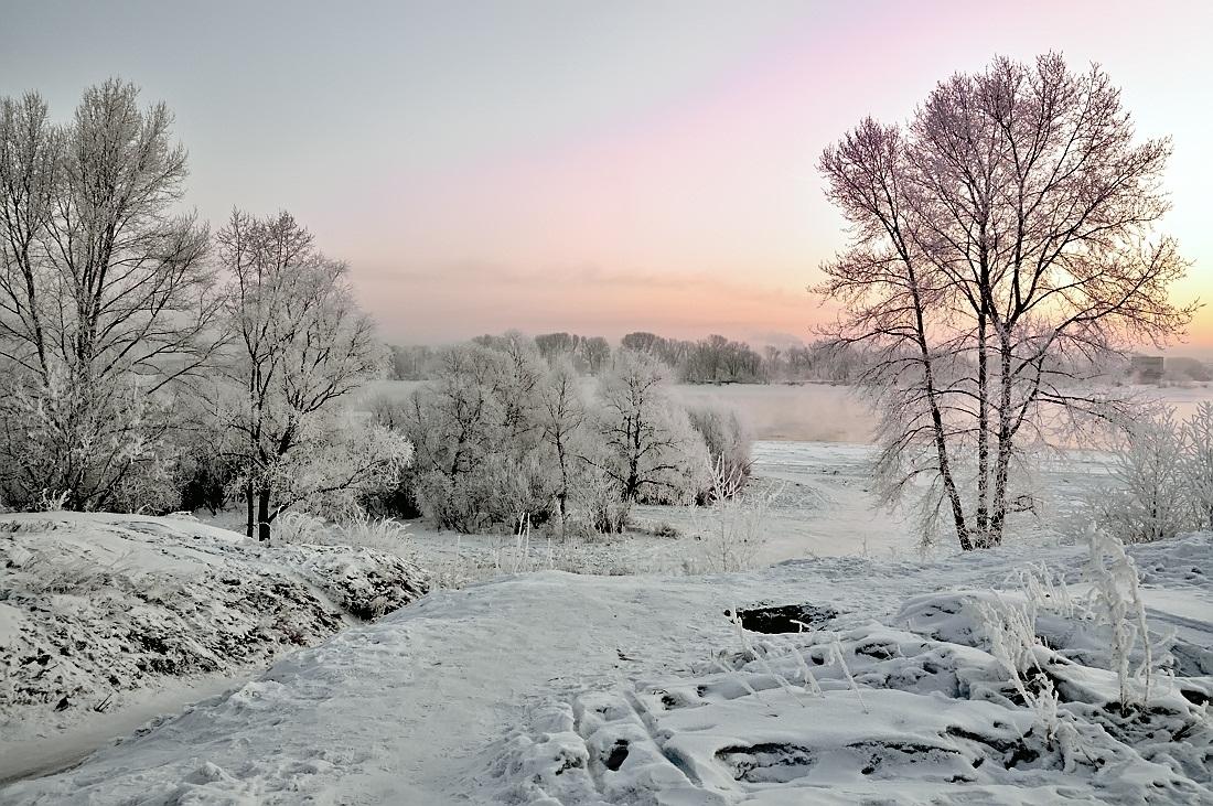 """фото """"***"""" метки: пейзаж, природа, вода, зима, лес"""