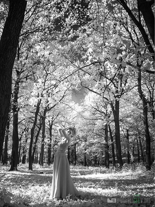 "фото ""***"" метки: черно-белые, гламур, женщина, лес"