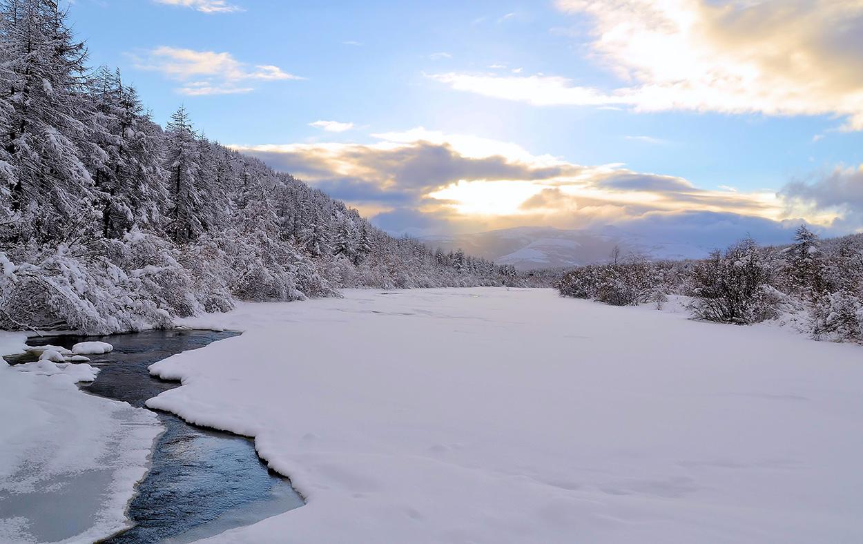 "фото ""***"" метки: пейзаж, вода, зима, река, снег"