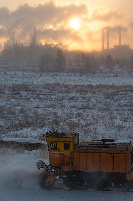 "фото ""Уборка снега"" метки: пейзаж, техника, город,"
