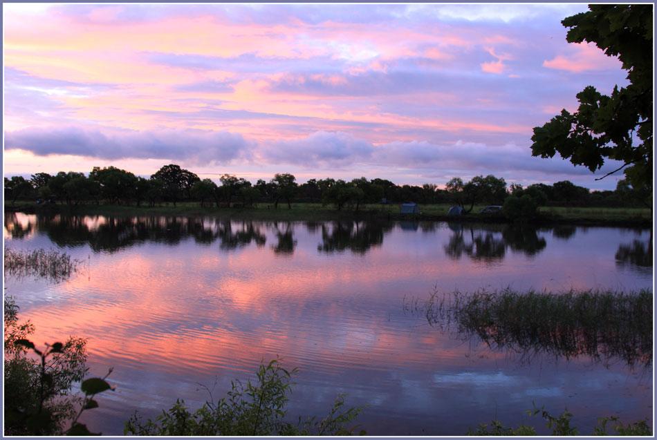 "фото ""На рассвете"" метки: пейзаж, природа, вода, краски., лето, отражения, рассвет"