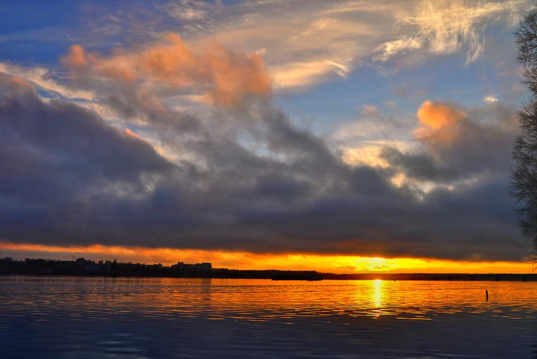 """фото """"Как масло тает уходящий день..."""" метки: , Вологодчина, Шексна, закат, река"""