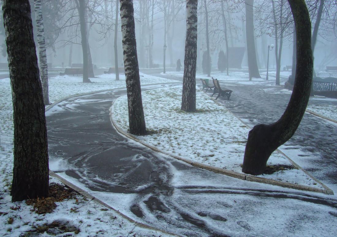 """фото """"..первое утро зимы.."""" метки: пейзаж, зима, туман, утро"""
