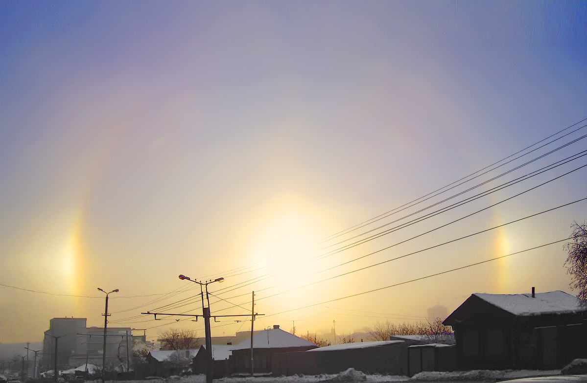 "photo ""Rainbow winter"" tags: landscape, cityscape, rainbow, winter"