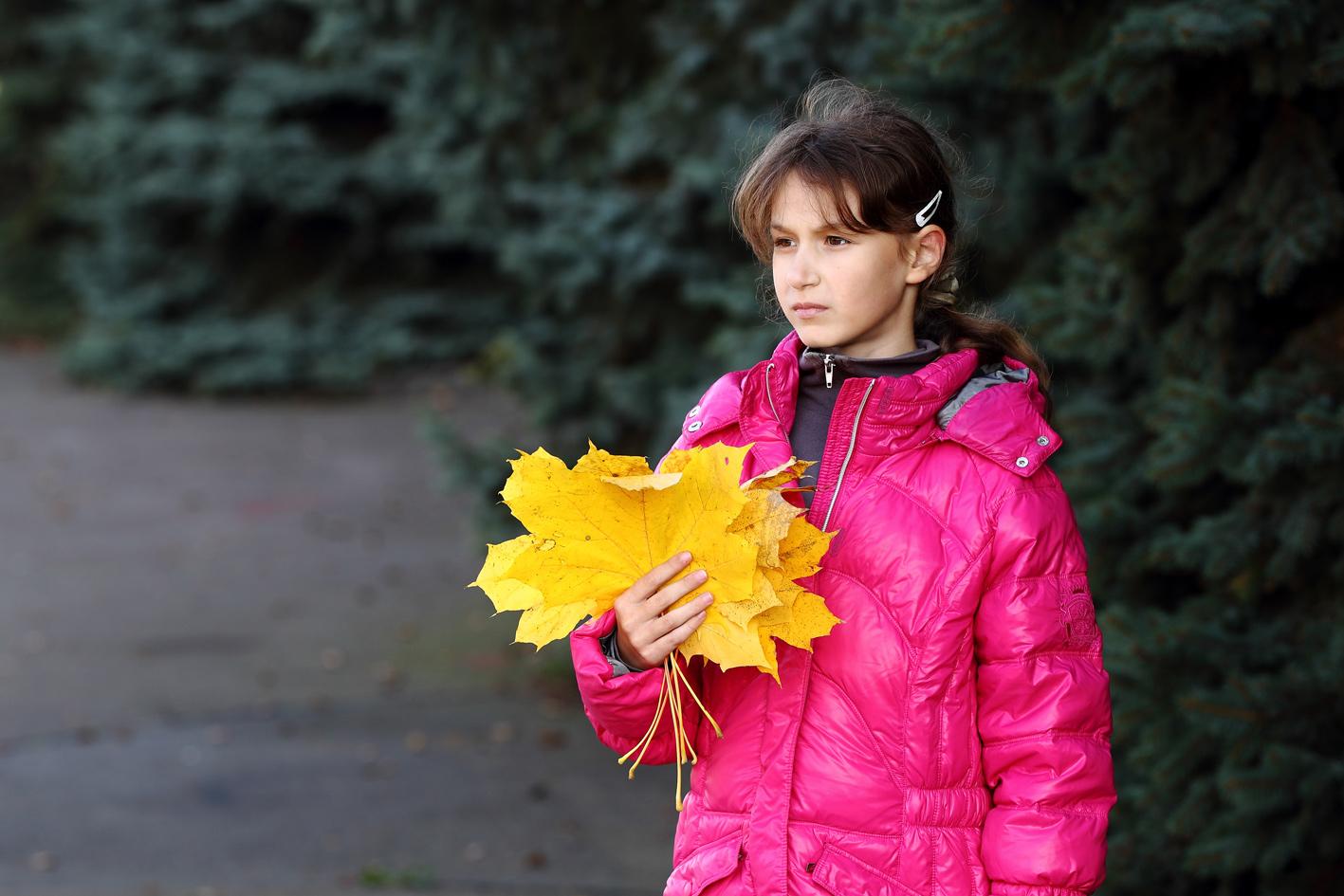 """фото """"Золотой веер"""" метки: портрет, дети, осень"""
