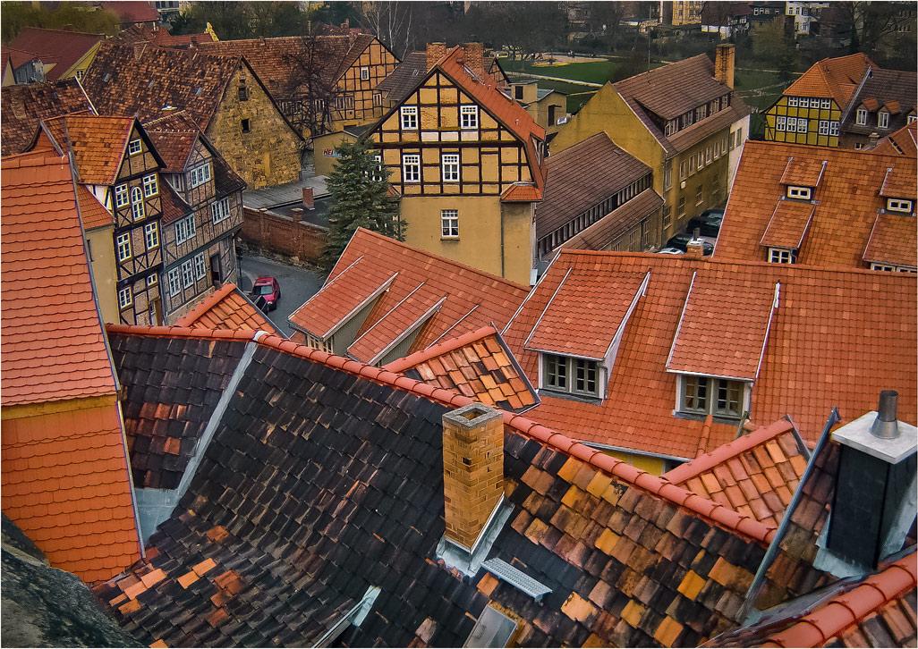 """фото """"Выше крыши...."""" метки: путешествия, foto liubos, Европа, германия крыши, кведлинбург"""