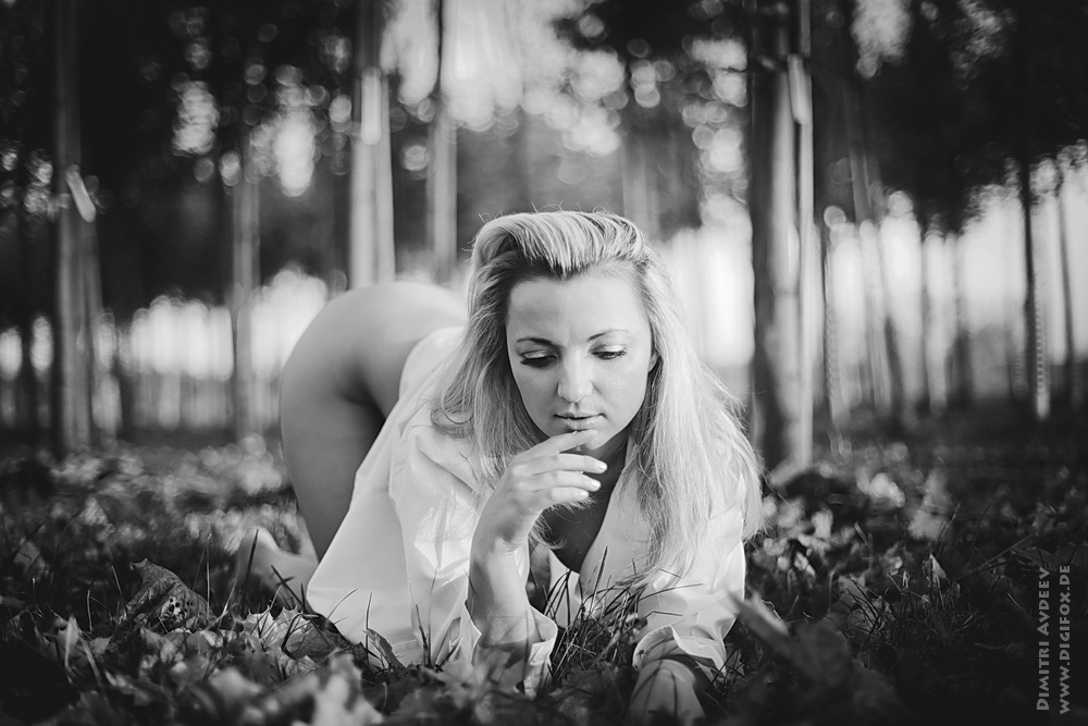 "photo ""***"" tags: nude, flowers, woman, листья"
