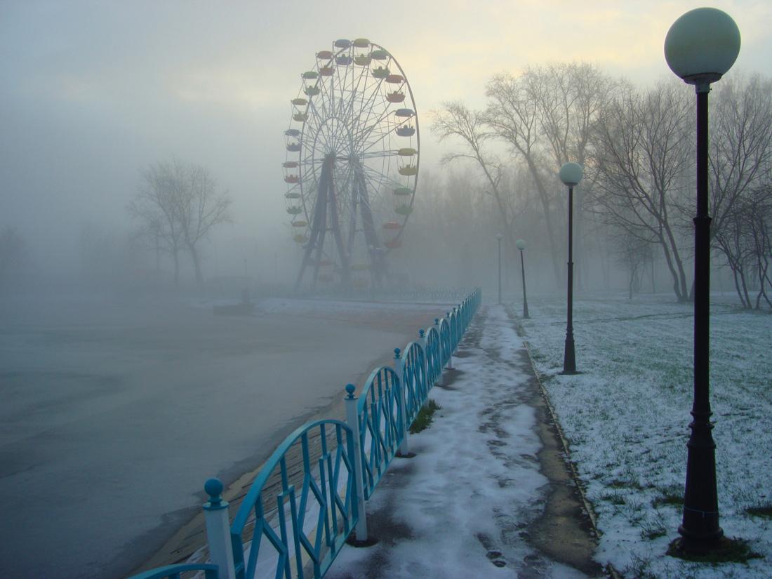 "photo ""... it goes summer?.."" tags: landscape, fog, morning, winter"
