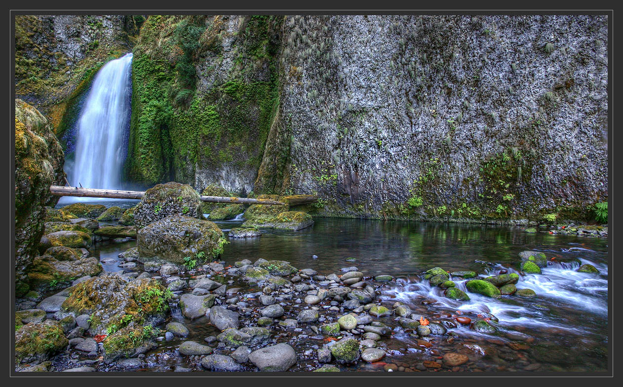 "photo ""Calm river with waterfall"" tags: landscape, water"
